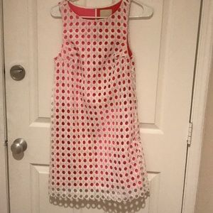 Modcloth Eyelet Red & Pink Shift Dress XS